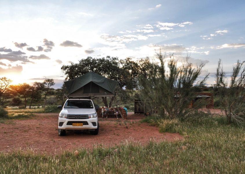 Dachzeltromantik – Camping in Namibia