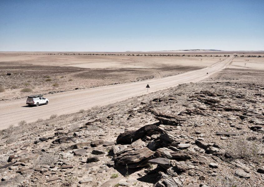 Links ist das neue Rechts – Autofahren in Namibia